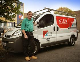 A Keir worker: Kier have won £25m maintenance contracts across the UK