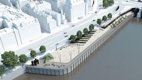 Thames Tideway Tunnel, Blackfriars Bridge Fereday Pollard Architects