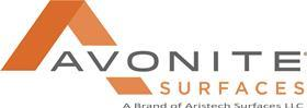 Avonite surfaces logo  with tag