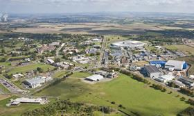 Aerial view of the harwell campus oxfordshire credit stfc