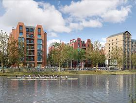 Squire and Partners' plans for Mortlake's Stag Brewery site - river view