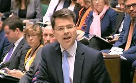 James Brokenshire in parliament on 30 April, 2018