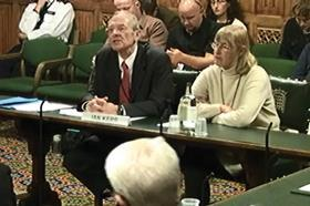 Ian Kerr giving evidence to MPs