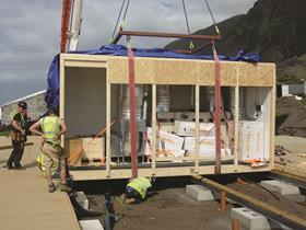 Installing a prefabricated service module
