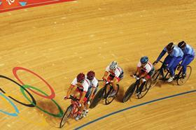 Paralympian cyclists prepare on the Olympic park velodrome this week