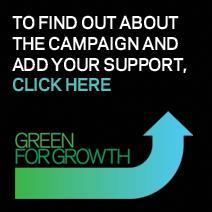 Green for growth campaign button