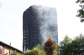 Grenfell Tower the day after fire