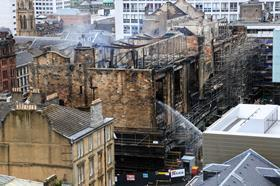 FREE_close pic_of_Mackintosh Glasgow_art_school_fire_credit_Michael Kobiela_Shutterstockdotcom
