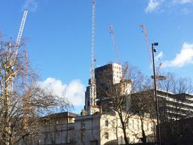 Cranes over barts square