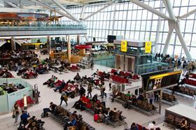 Heathrow departure lounge