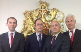 Declan Owens, David Renton, Dave Smith and John Hendy QC