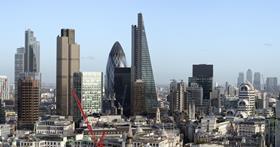 London skyline cheesegrater leadenhall city
