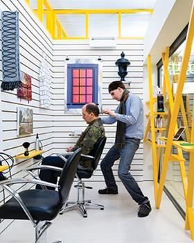 The trendy south London hairdressers