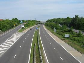 The A20, in Kent, SE England
