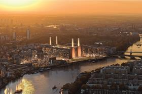 Battersea Power Station phase 1 facing West