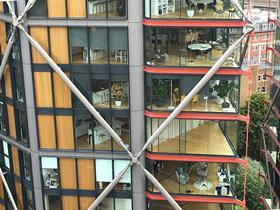 View from Tate Modern Switch House into Neo Bankside