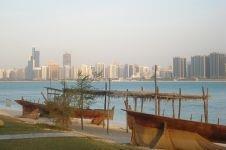 View of Abu Dhabi across the Persian Gulf