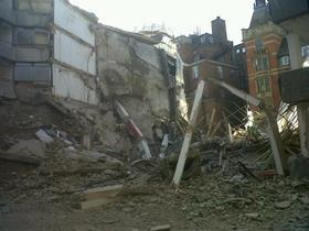 London Fire Brigade - Aldwych building collapse
