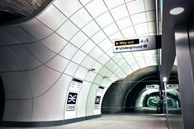 Crossrail station platform mock-up