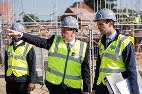 Building site with david 2015