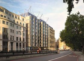 View to the west of RSHP's latest proposals to redevelop Knightsbridge's Berkeley Hotel.