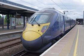 High speed Javelin train at Ashford station, HS2