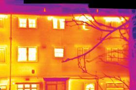 Heat sensitive house picture