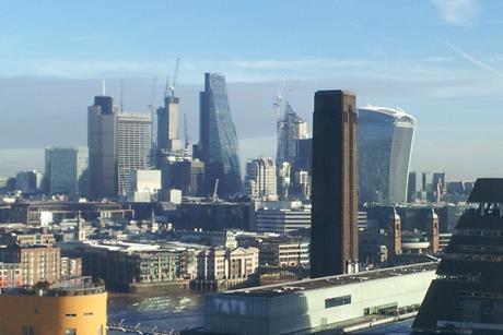 London Skyline, photographed on December 19, 2017