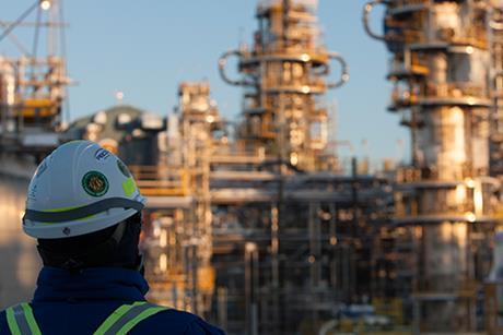 Bank photo oil gas facilities