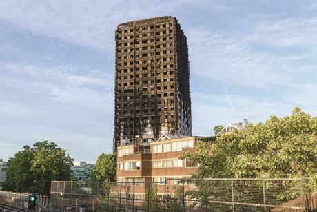 Grenfell Tower after the fire
