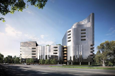 The luxury muse apartment complex in melbourne