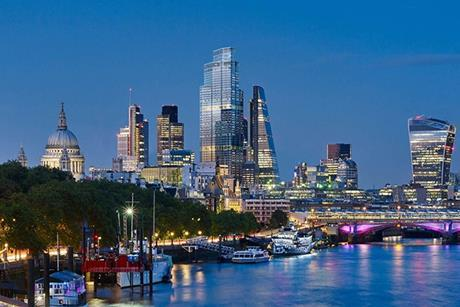 22 Bishopsgate from the Thames
