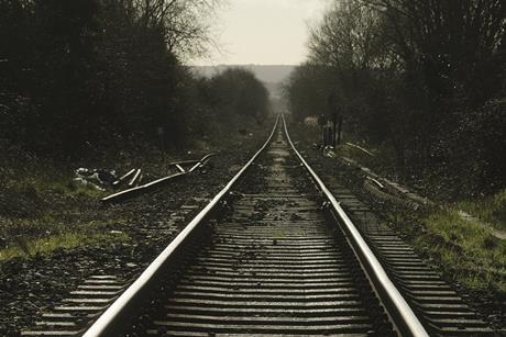 Rail tracks in countryside