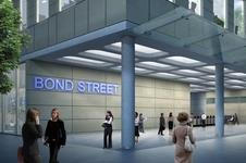 The redeveloped Bond Street station