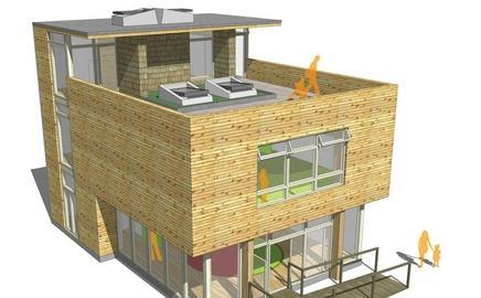 Willmott Dixon's mini-school will be built from recycled timber