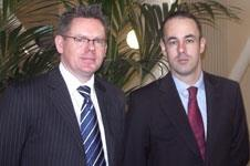 Lee Goult (Left) regional director, and Jonathan Wilson is associate director