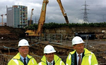 Can you see the finish line? McNulty, Coe and Armitt at the Olympic park last week