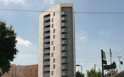 A £14.9m affordable housing block on Digby Road in Homerton, east London