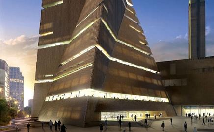 Tate Modern has unveiled a substantially redesigned upgrade of its £215m Herzog & de Meuron extension.