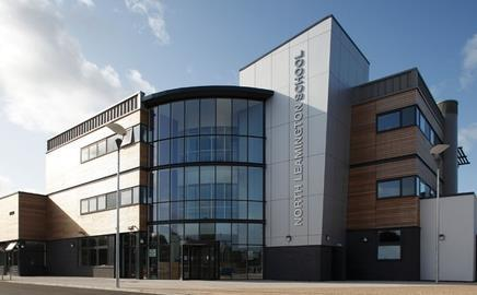 The £29m North Leamington school, designed by Robothams Architects, has opened
