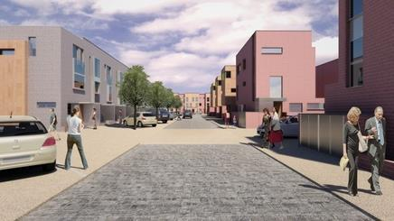 This development of 530 units in West Gorton is set to restart in the autumn following a pick up in demand