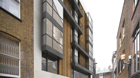 Newman Street flats by Emrys Architects