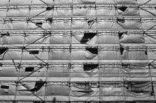 Scaffolding on Berlin construction site