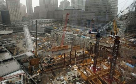 All change: the transport hub will be built at the World Trade Centre site