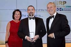 Supporting the moustache growing charity event Movember, Stephen Reilly picks up the Resourcing Manager of the Year award
