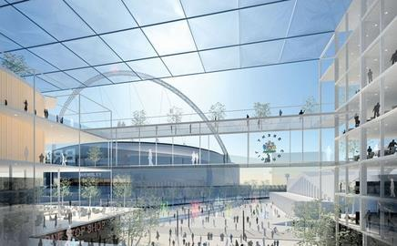 This is the first image of Hopkins Architects' winning design for a £60m civic centre in Brent, west London