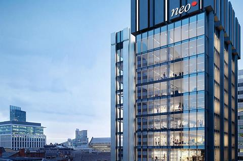 NEO-Manchester-Offices-Office-Space-in-Manchester-City-Centre-Building  - 1907451 neomanchesterofficesofficespaceinmanchestercitycentrebuilding 628913 - Glencar opens Manchester office as demand for warehouse space soars | News