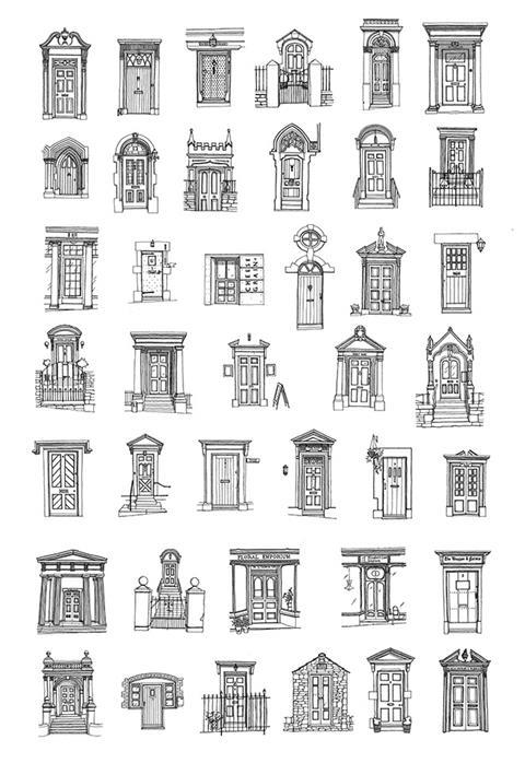 40 front doors of Frome