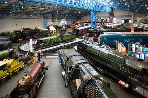 The Great Hall at the National Railway Museum in York