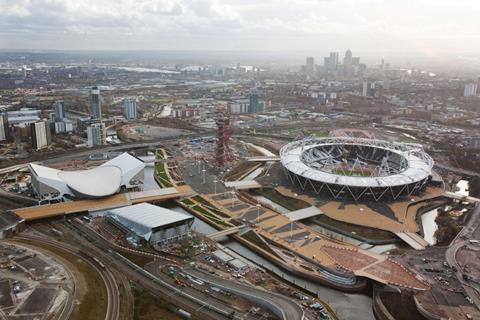 Olympic site aerial view Dec 2011